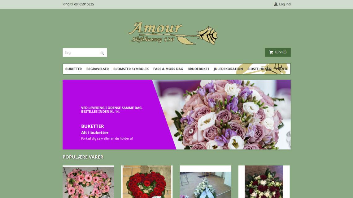 Blomster til alle lejligheder hos Amour Blomster