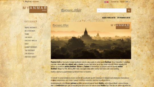 Unikke gamle buddhaer fra Myanmar Antik