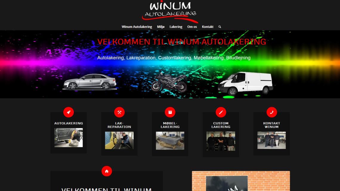 Få lakeret din bil med Winum Autolakering