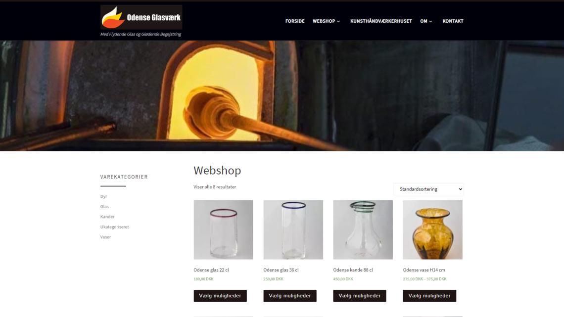 Odense Glasværk åbner op for online salg af glas